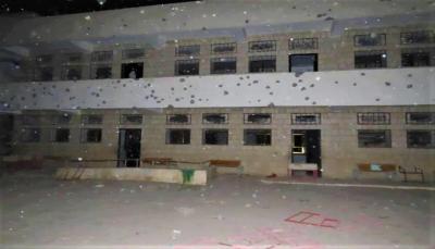 """""""سقط في كُبري مدارس المدينة.. مليشيا الحوثي تستهدف مأرب بصاروخ باليستي(صور)"""