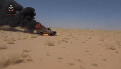 مأرب.. مصرع 11 مسلحاً حوثياً في كمين بالمخدرة وتدمير آليات في جبهة مراد