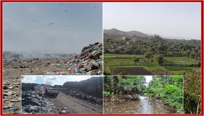 """تحقيق لـ""""يمن شباب نت"""" يكشف مخاطر وأضرار تحويل وادي """"الضباب"""" بتعز من متنزه طبيعي إلى مقلب للقمامة بسبب الحرب"""