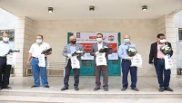 """أطباء اليمن بالمهجر تُكرّم الفرق الصحية الفاعلة في مواجهة كورونا بـ""""تعز"""""""